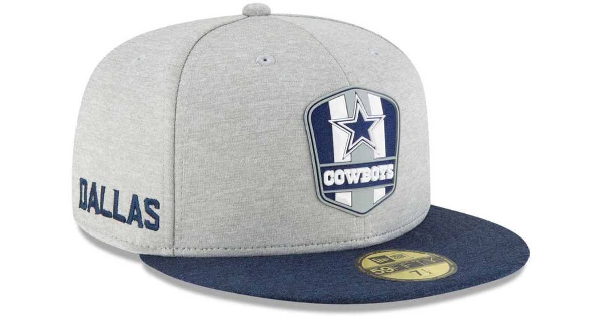 Lyst - KTZ Dallas Cowboys On Field Sideline Road 59fifty Fitted Cap in Blue  for Men d16386b861d7