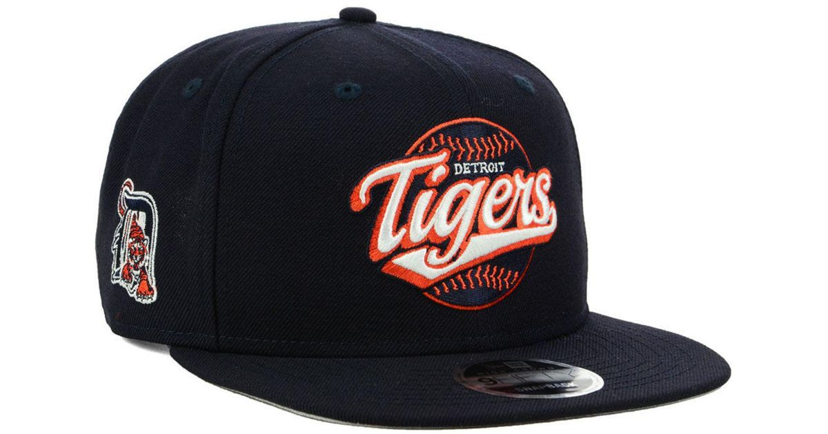 info for d1c27 ad43e ... promo code for lyst ktz detroit tigers vintage 9fifty snapback cap in  blue for men a2cf8