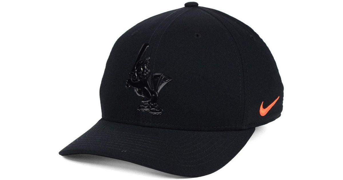 wholesale dealer b0b6a f74c8 Lyst - Nike Baltimore Orioles Gloss Swooshflex Cap in Black for Men