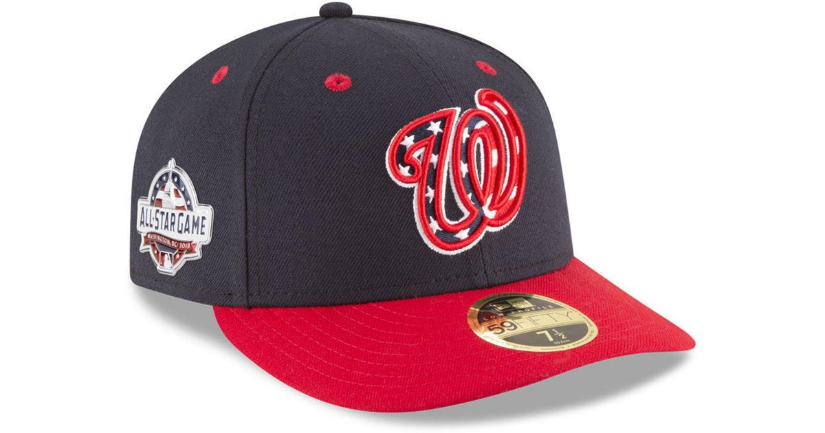 best cheap 8bb27 83e43 KTZ Washington Nationals Washington All Star Game Patch Low Profile 59fifty  Fitted Cap in Blue for Men - Lyst