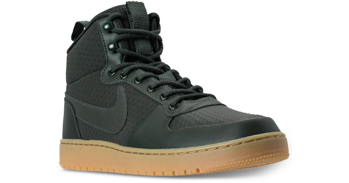 0e41d880e167 Lyst - Nike Men s Court Borough Mid Winter Outdoor Casual Sneakers From  Finish Line in Green for Men