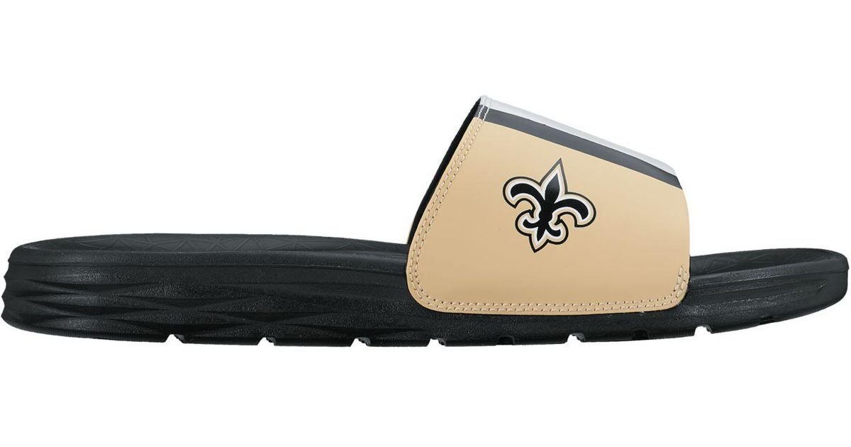 24ecbb95863298 Lyst - Nike New Orleans Saints Benassi Solarsoft Slides in White for Men