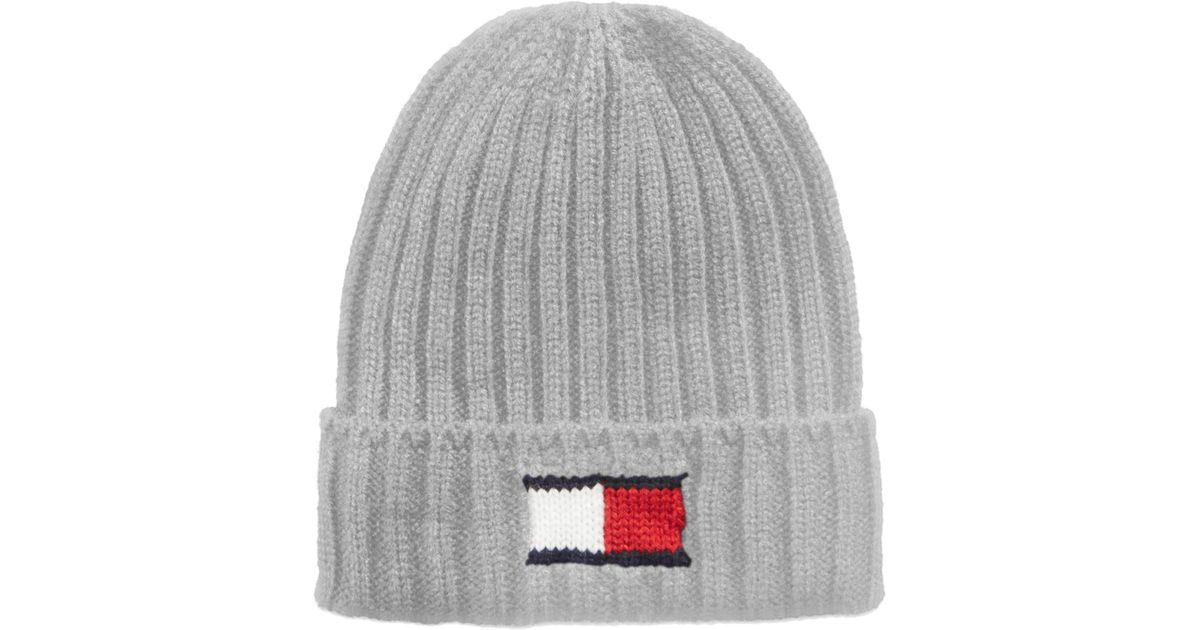 b8da75e108928 Tommy Hilfiger Men s Logo Beanie in Metallic for Men - Lyst