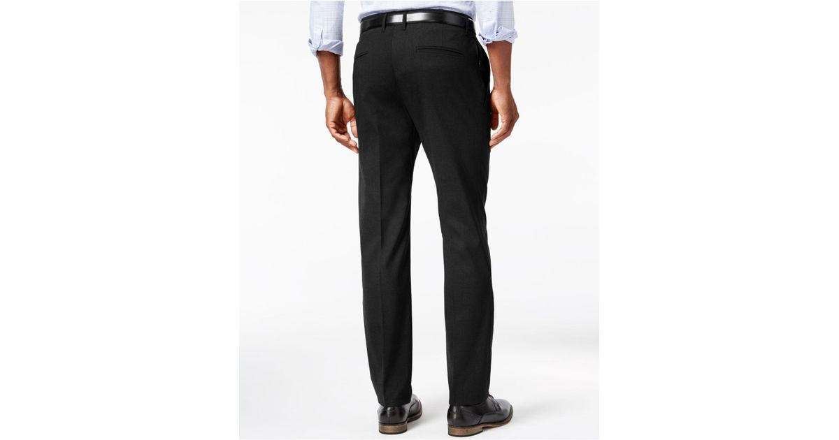 601a31effda5 Lyst - Kenneth Cole Reaction Men s Stretch Athleisure Slim-fit Dress Pants  in Black for Men