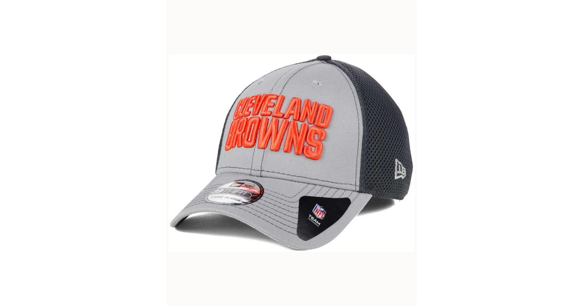 newest 07245 9ecda ... canada lyst ktz cleveland browns grayed out neo 39thirty cap in gray  for men 9c825 082a9
