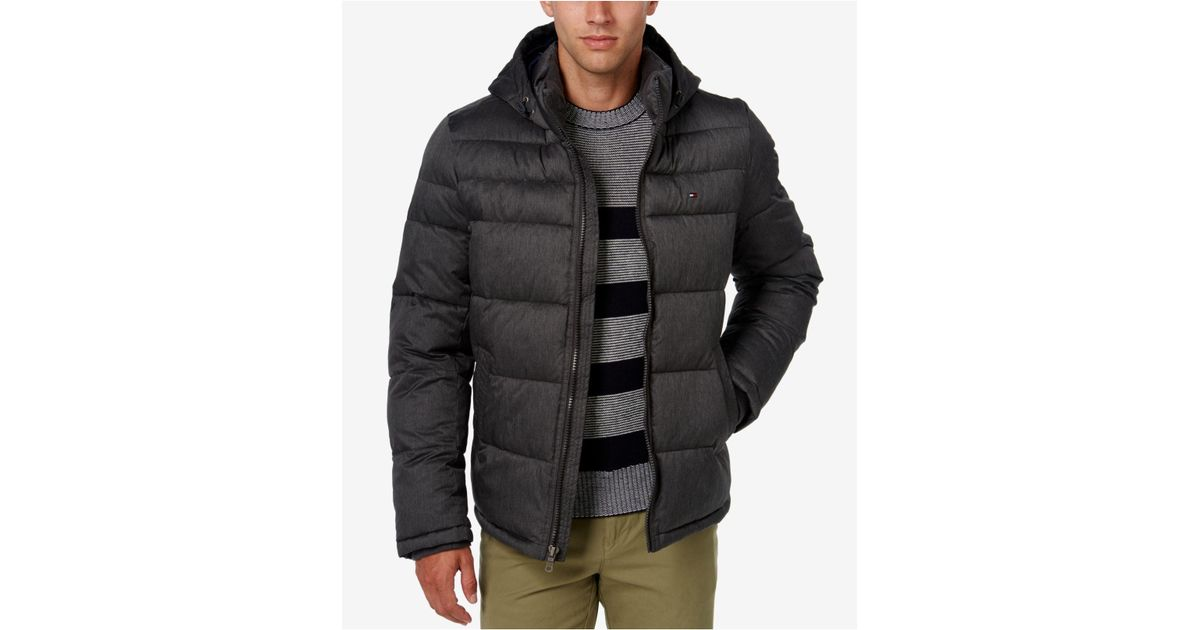 f88580b1532e Lyst - Tommy Hilfiger Men s Classic Hooded Puffer Jacket in Gray for Men