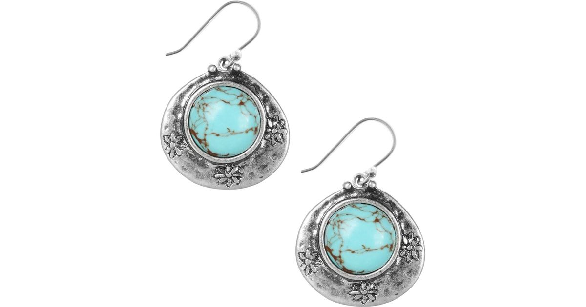 Lucky brand earrings silver tone turquoise drop earrings for Macy s lucky brand jewelry