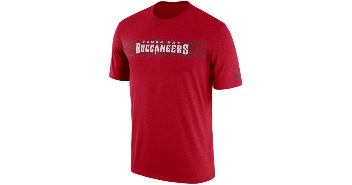 902d9af3a Nike Tampa Bay Buccaneers Nfl Onfield Sideline Seismic T-shirt in Red for  Men - Save 25% - Lyst