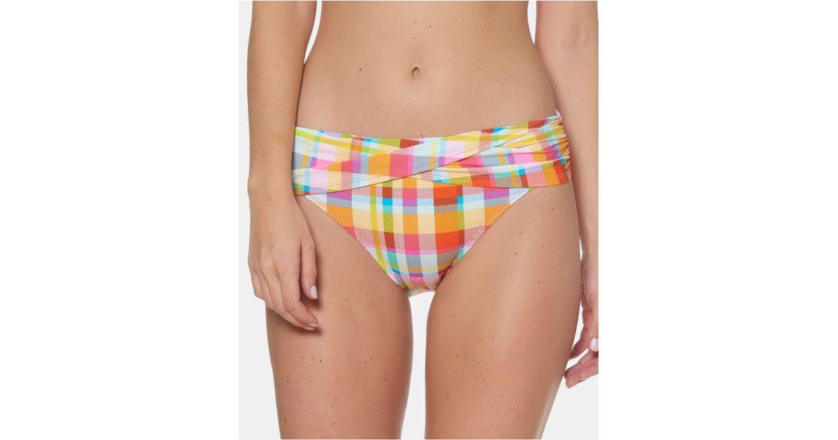 69b9e5910c25f Bleu Rod Beattie Plaid Sarong Hipster Bikini Bottoms - Lyst