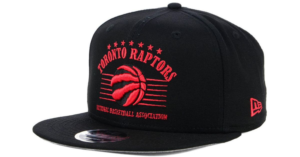 newest abef9 18e66 real lyst ktz toronto raptors retro arch 9fifty snapback cap in black for  men fedc0 b353e