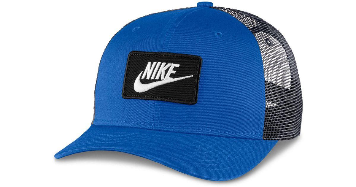 Lyst - Nike Sportswear Classic Trucker Hat in Blue for Men ebc6545f49b