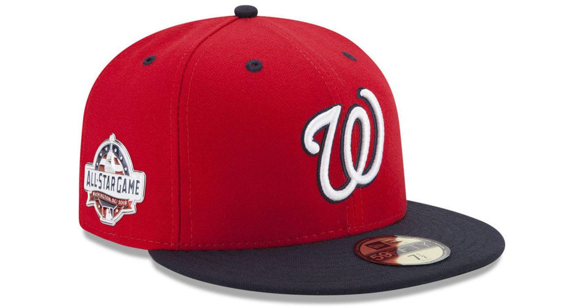 newest cdaf7 caef6 Lyst - KTZ Washington Nationals Washington All Star Game Patch 59fifty  Fitted Cap in Red for Men