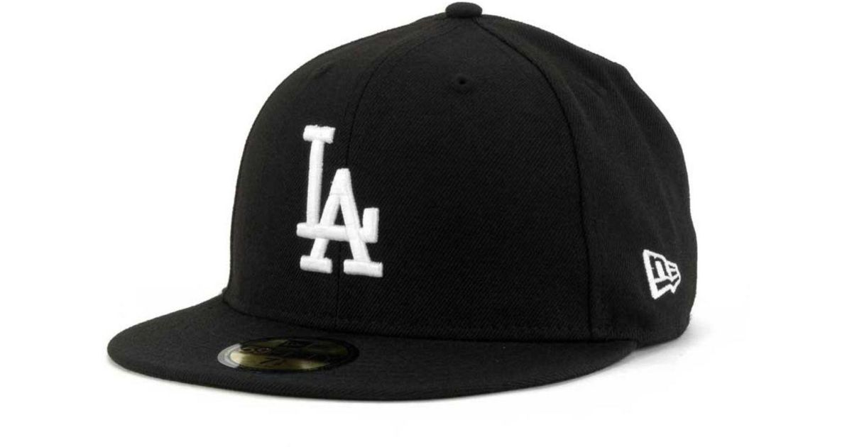 new product b5085 58c46 Lyst - KTZ Los Angeles Dodgers B-dub 59fifty Cap in Black for Men