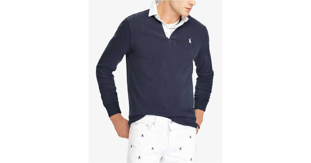 3c0dae891de9 Lyst - Polo Ralph Lauren Iconic Rugby Shirt in Blue for Men