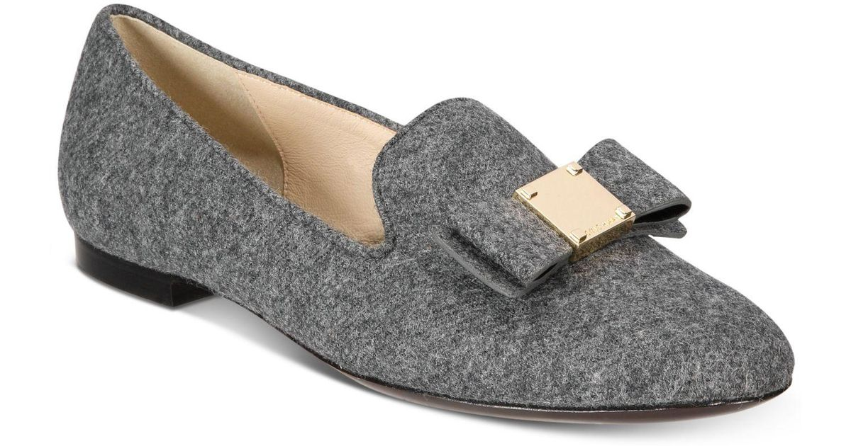 ea149616e76 Lyst - Cole Haan Tali Bow Loafers in Gray