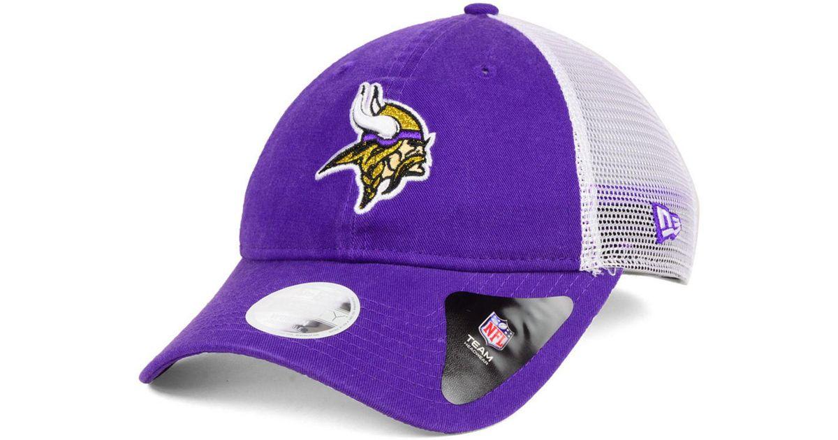 Lyst - Ktz Minnesota Vikings Trucker Shine 9twenty Cap in Purple 6e703c6f0e5