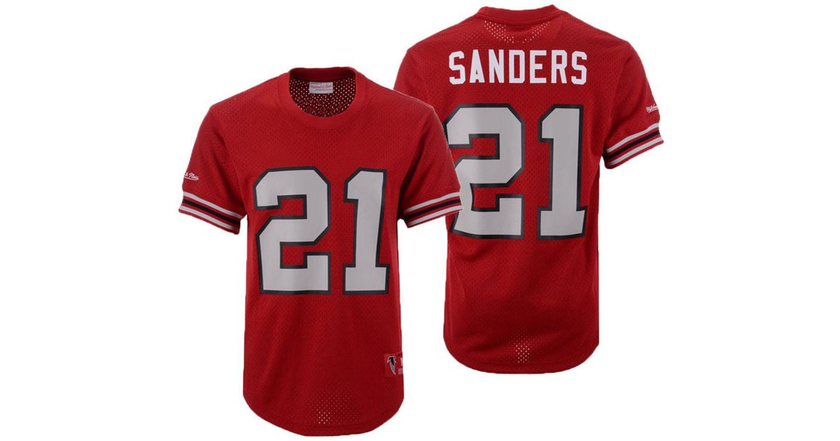 Mitchell & Ness Deion Sanders Atlanta Falcons Mesh Name And Number