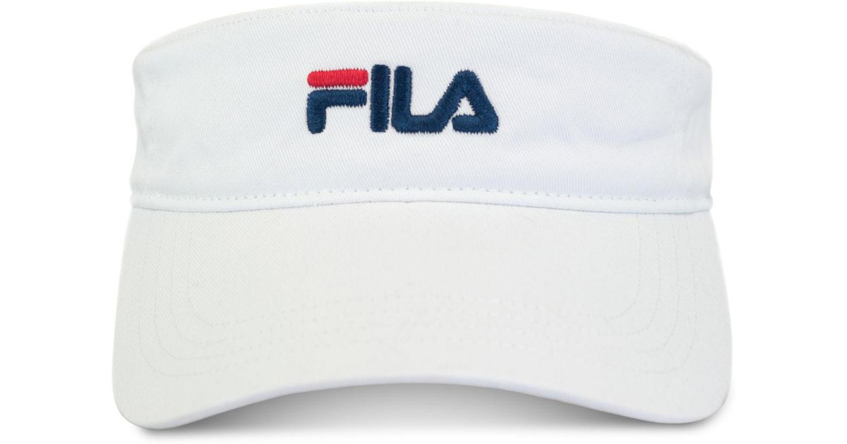 c37772f878d Lyst - Fila Heritage Cotton Visor in White