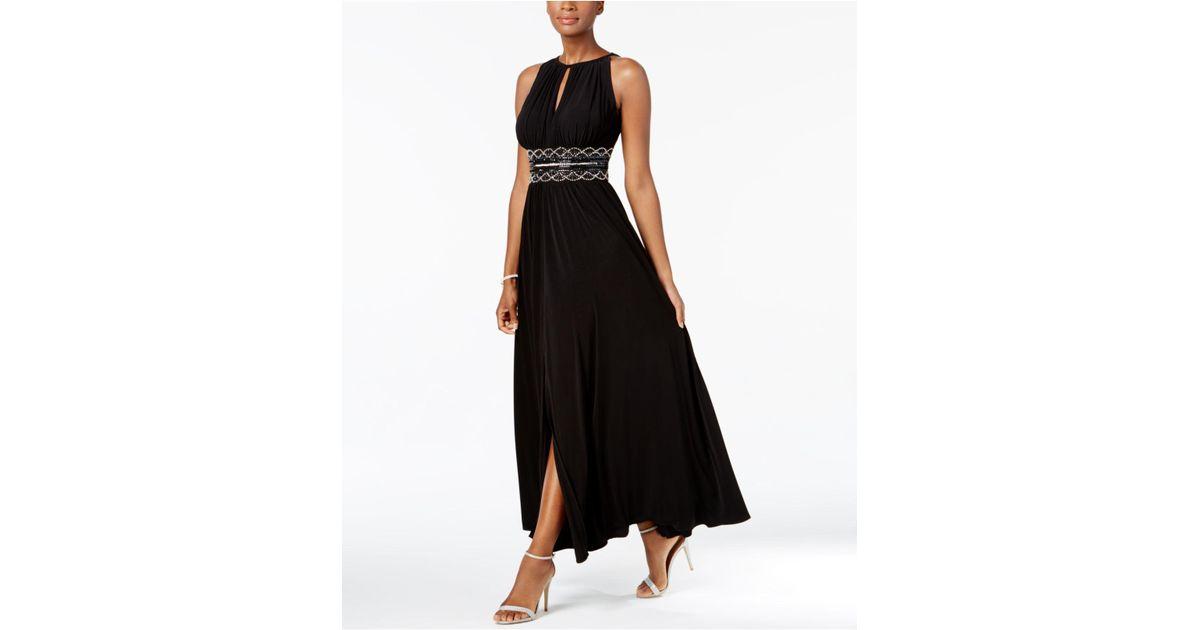 Lyst R Amp M Richards Dress Sleeveless Beaded Evening
