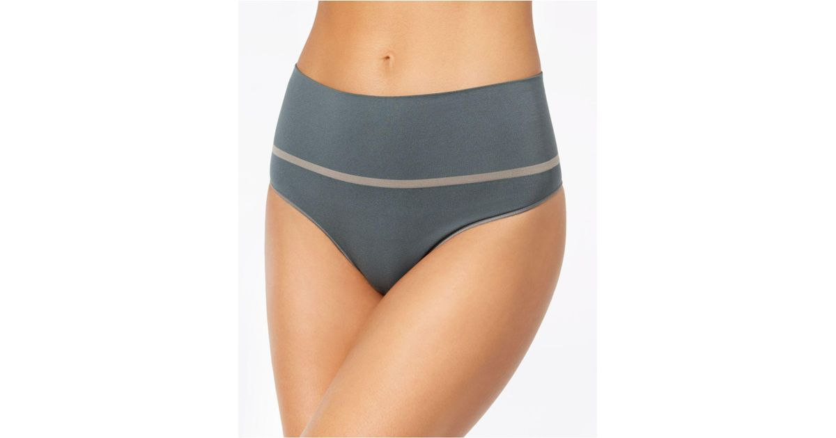 f7cfd631c74 Spanx - Green Everyday Shaping Panties Thong Ss0815 - Lyst