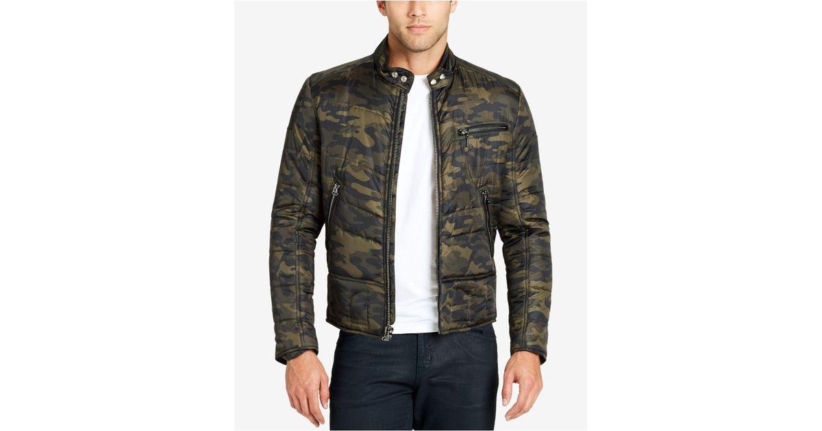 5cdbd29749a23 William Rast Men's Ratso Full-zip Moto Puffer Jacket for Men - Lyst