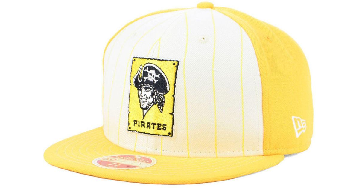 low priced d5db7 89912 ... where to buy lyst ktz pittsburgh pirates vintage front 59fifty fitted  cap for men 27f02 2982d