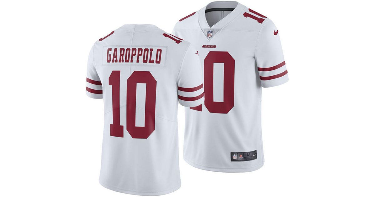 cheap for discount ab72e f3582 Nike - White Jimmy Garoppolo San Francisco 49ers Vapor Untouchable Limited  Jersey for Men - Lyst