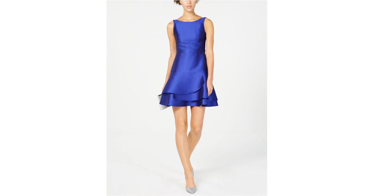 e6a1c3927c0c Adrianna Papell Open-back Fit & Flare Dress in Blue - Lyst
