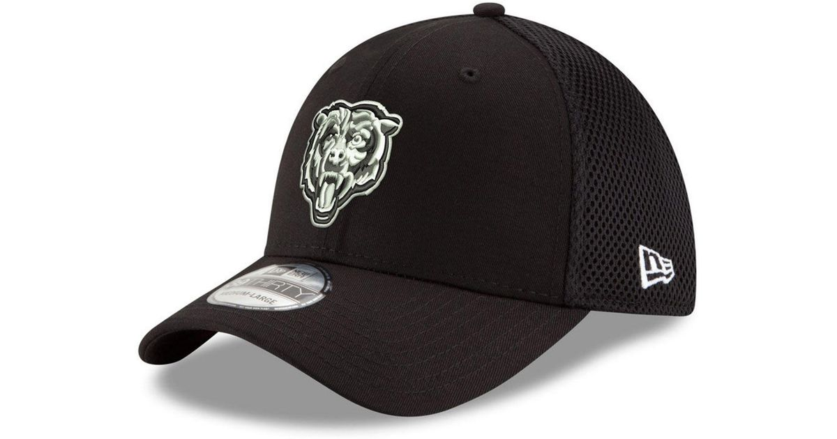 quality design bd13b 8ba0d KTZ Chicago Bears Black white Neo Mb 39thirty Cap in Black for Men - Lyst