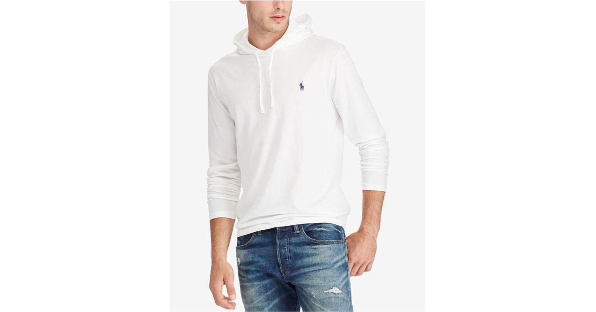 5be282e96 Polo Ralph Lauren Men's Jersey T-shirt Hoodie in White for Men - Lyst