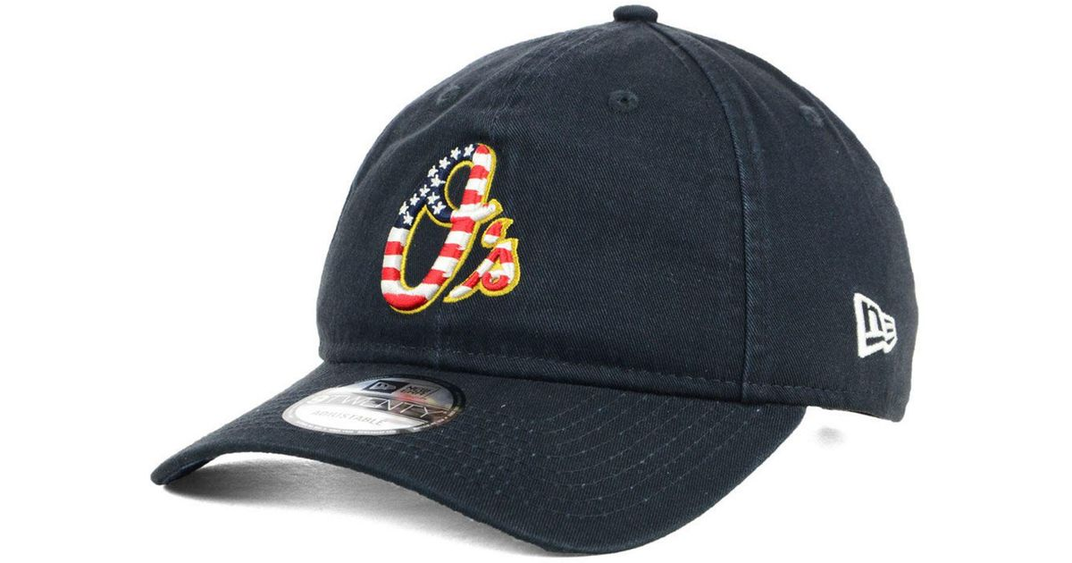 sneakers for cheap 8ebc0 41849 Lyst - KTZ Baltimore Orioles Stars And Stripes 9twenty Strapback Cap in  Blue for Men