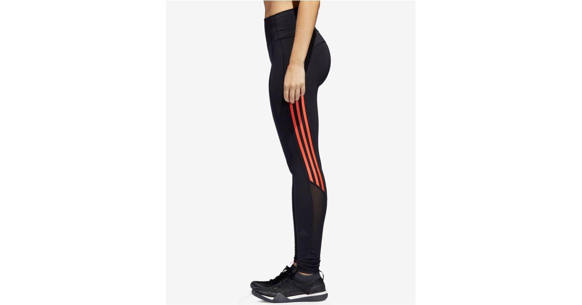 646939da1c4 Lyst - adidas Mesh-trimmed Ankle Leggings in Black