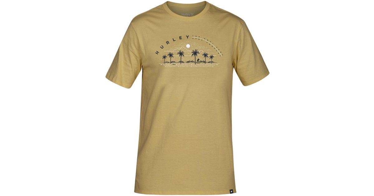 5bd7a433 Lyst - Hurley Dirt Dreams Graphic T-shirt, Created For Macy's in Yellow for  Men