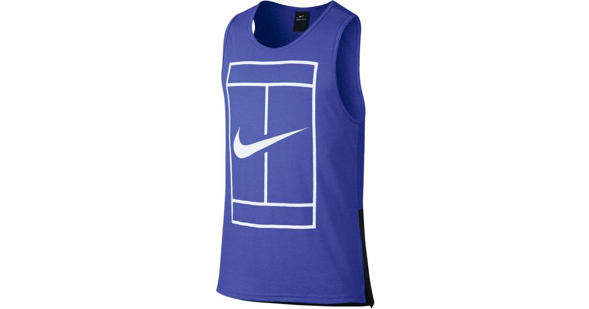 d4dff929d14d Lyst - Nike Men s Court Dry Tennis Tank Top in Blue for Men