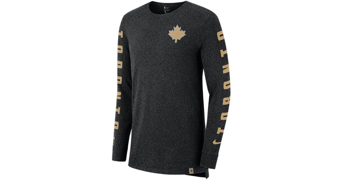 Lyst - Nike Toronto Raptors City Elevated Long Sleeve Dry T-shirt in Black  for Men 3310b6059