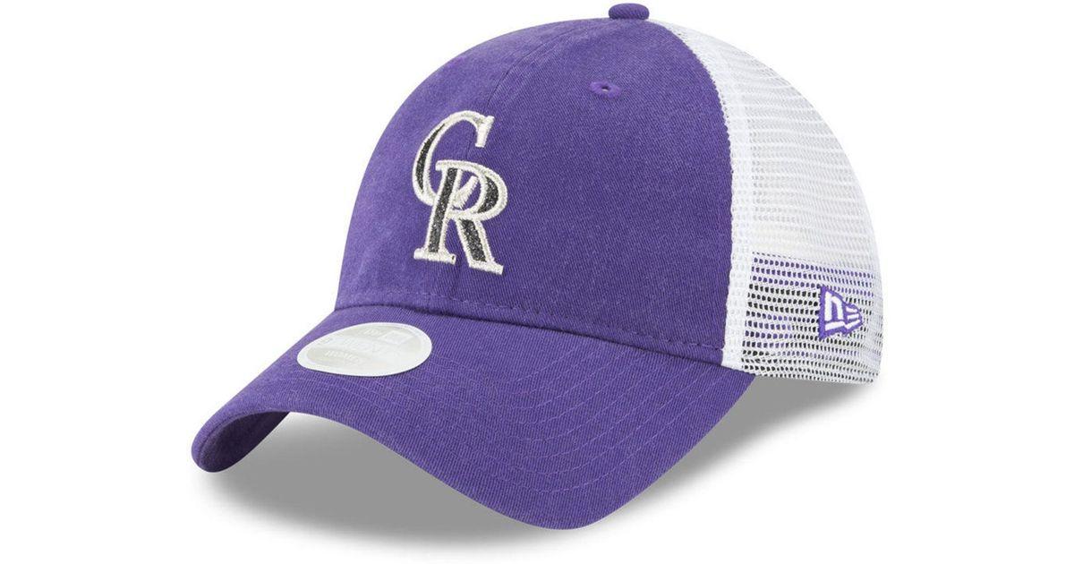 5ec3f4a4 ... best lyst ktz colorado rockies trucker shine 9twenty cap in purple for  men 57687 d2d53