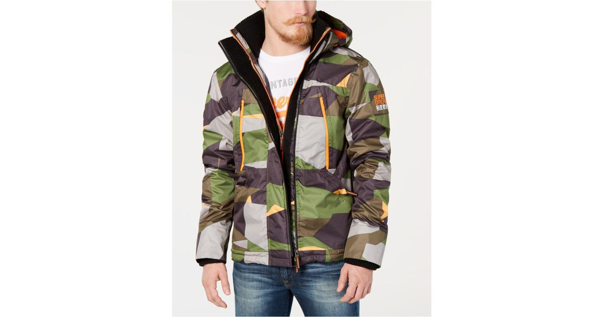 0cf5e7ff0e06d Superdry Hooded Polar Wind Attacker Colorblock Camo Jacket for Men - Lyst