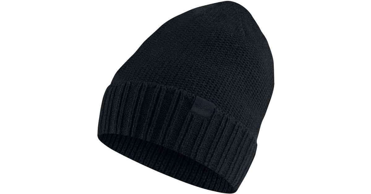 Lyst - Nike Sportswear Honeycomb Beanie in Black for Men - Save 42% 2877c4556109