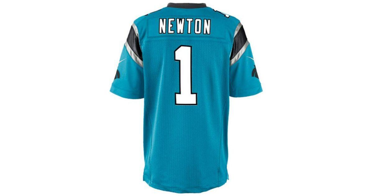 d294d882 Lyst - Nike Men's Cam Newton Carolina Panthers Game Jersey in Blue for Men