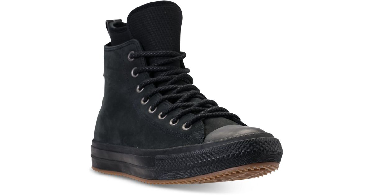 Lyst - Converse Chuck Taylor All Star Waterproof Boot Nubuck Hi Casual  Sneakers From Finish Line in Black for Men 2fd73ad3896