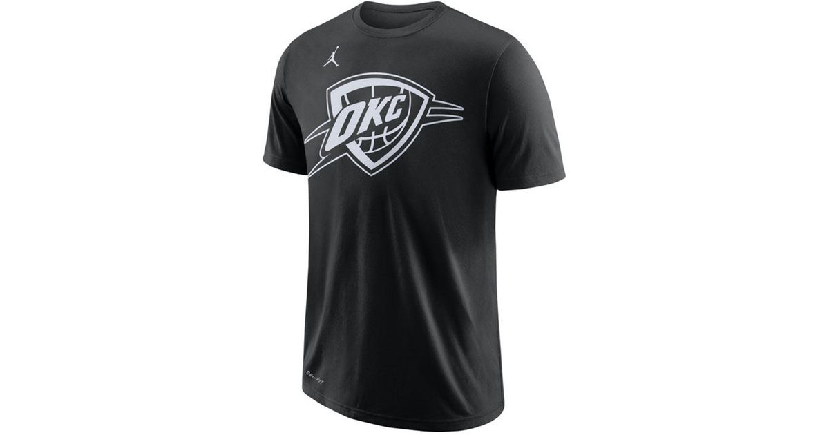 b7b5eab0764 Lyst - Nike Russell Westbrook Oklahoma City Thunder All Star Player T-shirt  in Black for Men