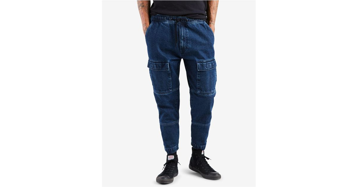ec367baa Levi's Utility Essentials Stretch Cargo Joggers in Blue for Men - Lyst
