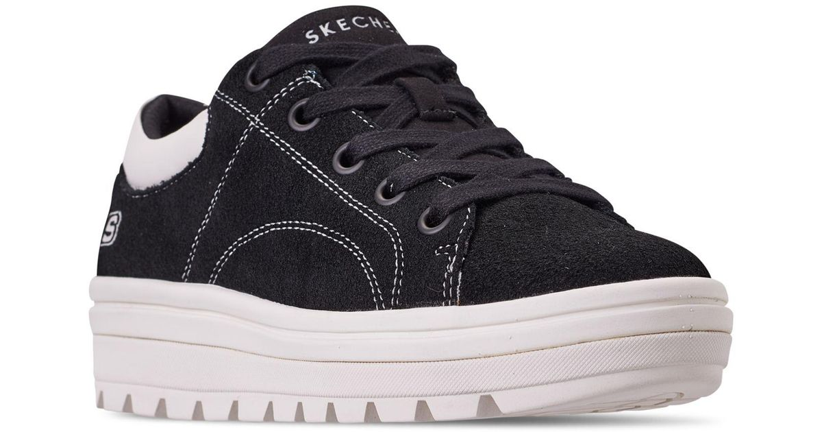 aa3954f0bbc Lyst - Skechers Street Cleat - Back Again Casual Sneakers From Finish Line  in Black - Save 43%