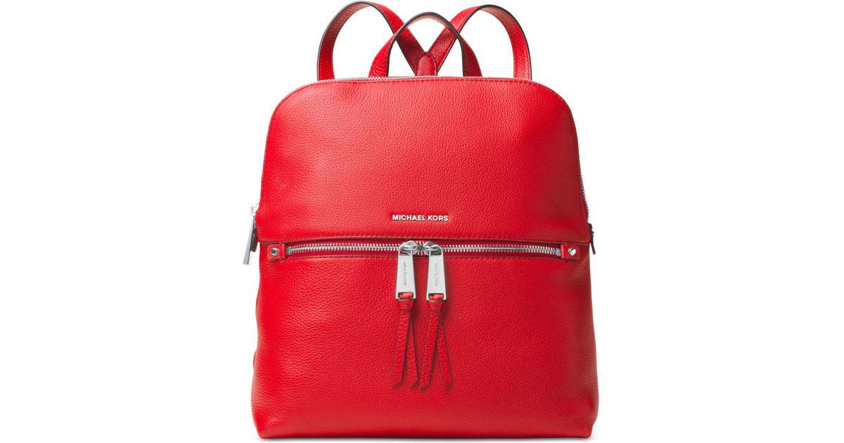 44deb82ae207 ... germany michael kors rhea medium slim backpack in red lyst ca904 ca739