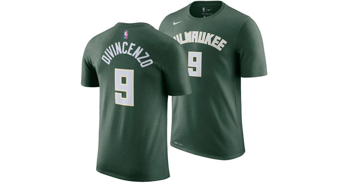 abbb33f66 Lyst - Nike Donte Divincenzo Milwaukee Bucks Icon Player T-shirt in Green  for Men