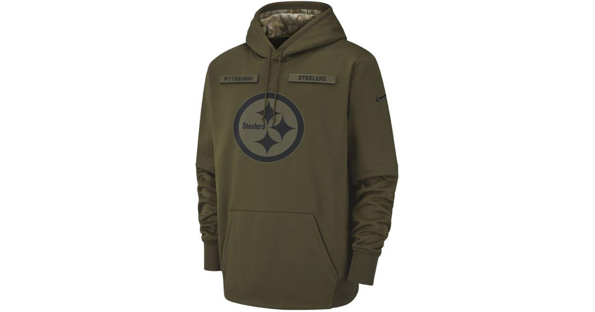 ec1d3899 Nike - Green Pittsburgh Steelers Salute To Service Therma Hoodie for Men -  Lyst