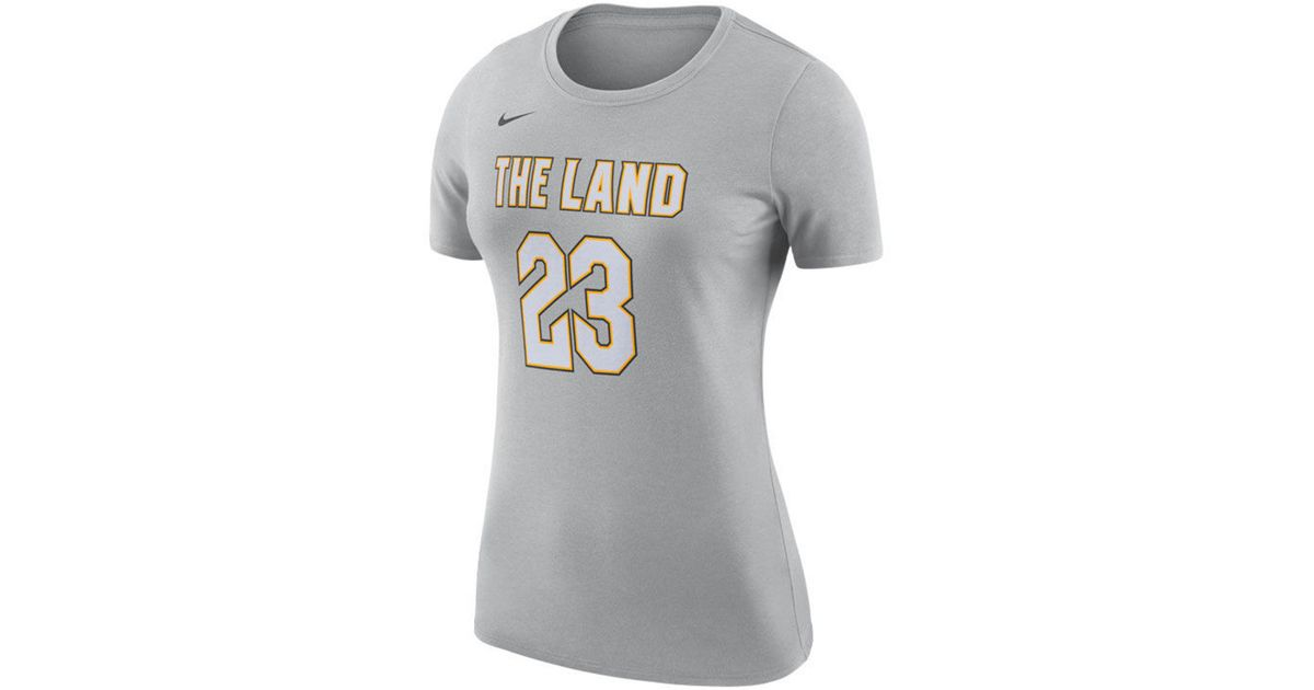 official photos 80301 85955 Nike - Metallic Lebron James Cleveland Cavaliers City Edition Player  T-shirt - Lyst