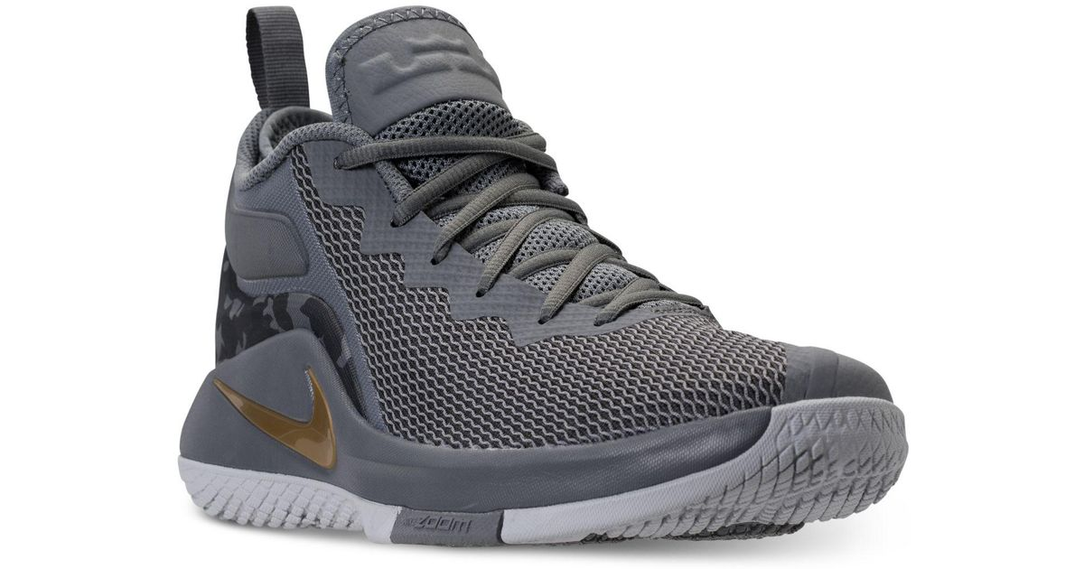 ab26f7c4e097 Lyst - Nike Lebron Witness Ii Basketball Sneakers From Finish Line in Gray  for Men