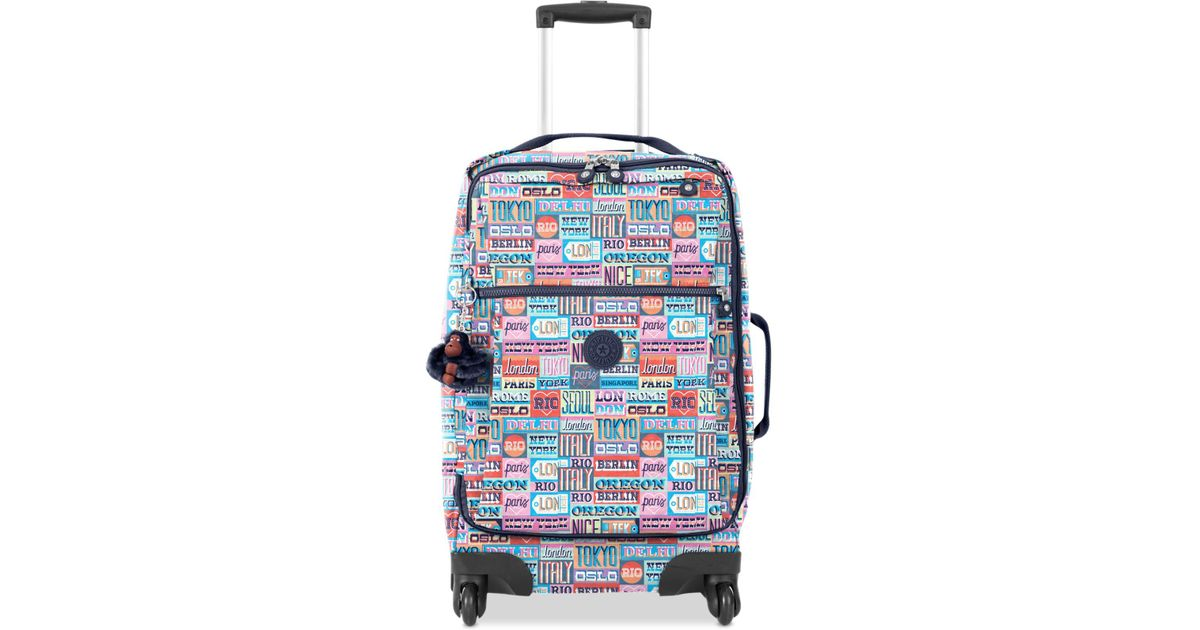 b8d8e34832 Lyst - Kipling Darcey Large Printed Rolling Luggage in Blue