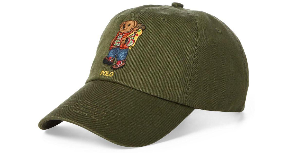c6a3444f4 Polo Ralph Lauren Great Outdoors Polo Bear Baseball Cap in Green for Men -  Lyst